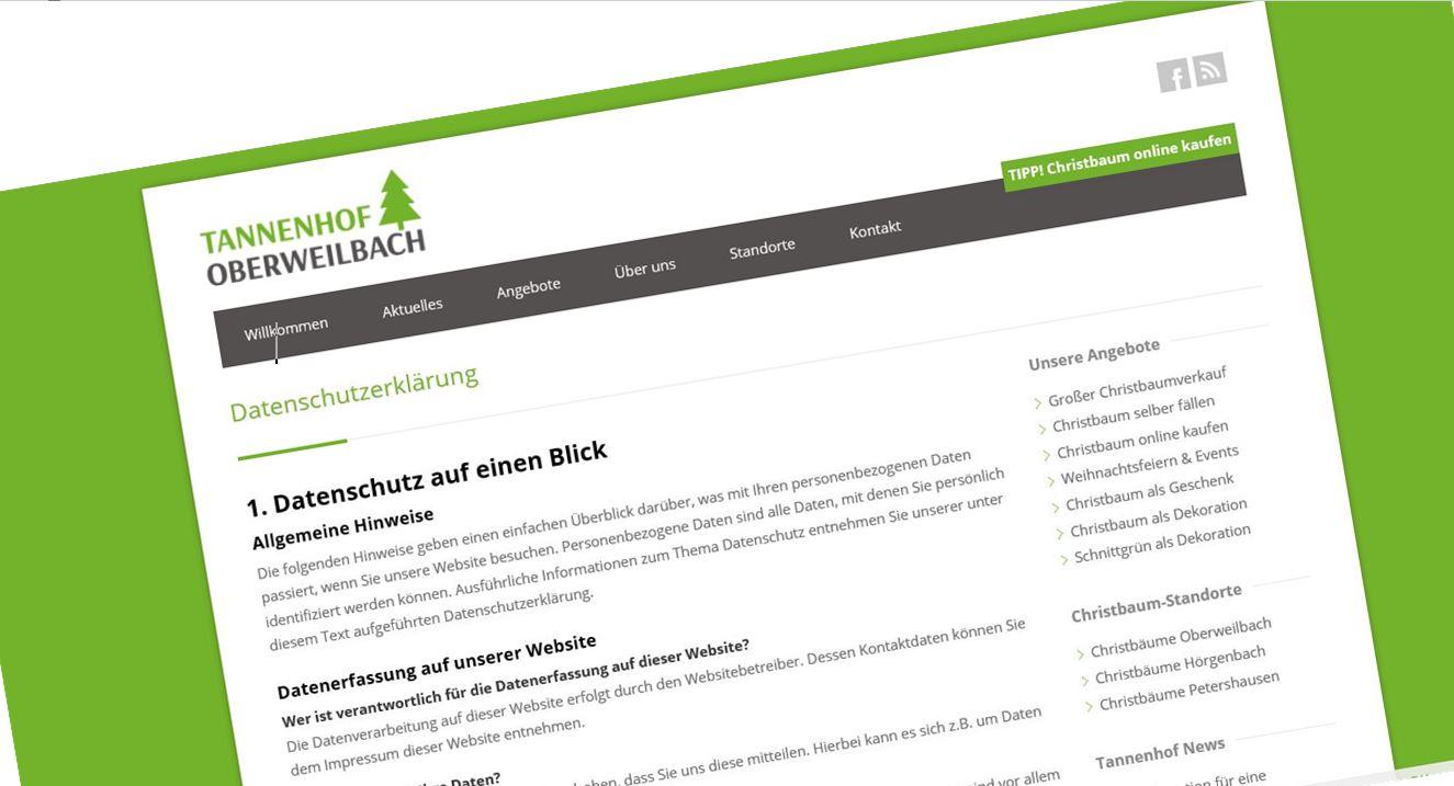 Die neue DS-GVO der EU. Happy End in Oberweilbach. - Tannenhof ...