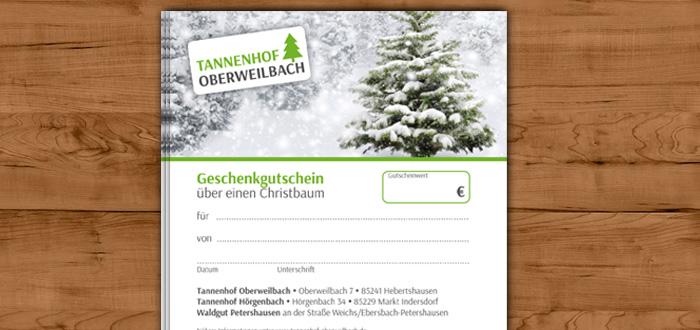 Christbaum Gutschein