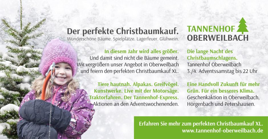 Der perfekte Christbaumkauf. In 2019 in XL. Auf dem Tannenhof Oberweilbach im Landkreis Dachau.